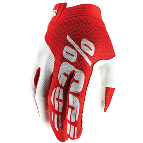 100% iTrack Gloves red/white